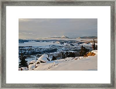 Morning Pano Framed Print by Bob Berwyn