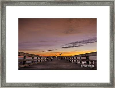 Morning Pier Deck Framed Print by Marvin Spates