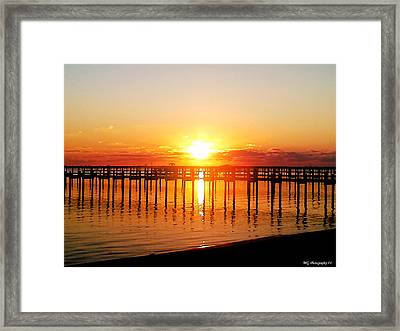 Framed Print featuring the photograph Morning Pier by Marty Gayler