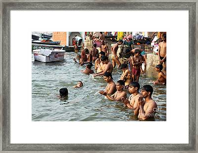 Morning Prayers And Ablutions Framed Print