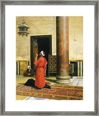 Morning Prayers Framed Print by Ludwig Deutsch
