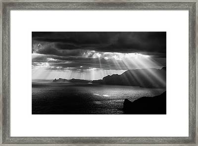 Morning Rays Framed Print by Artfiction (andre Gehrmann)