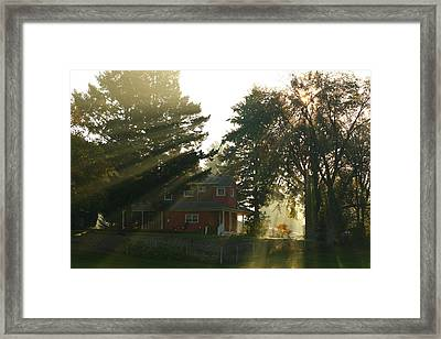 Framed Print featuring the photograph Morning Rays by Lynn Hopwood