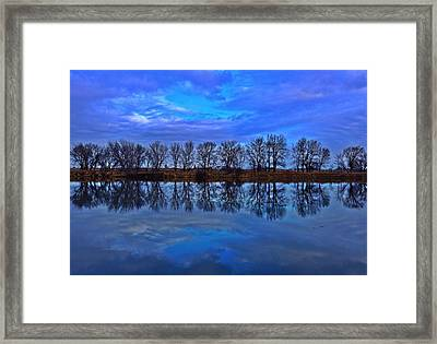 Blue Morning Reflection Framed Print by Lynn Hopwood