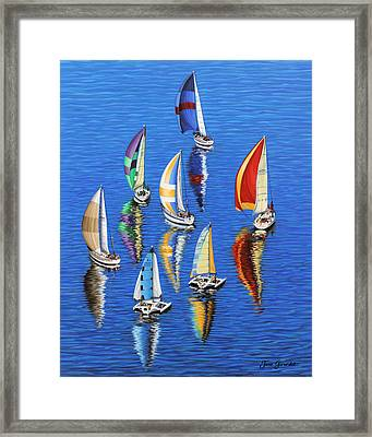 Framed Print featuring the painting Morning Reflections by Jane Girardot
