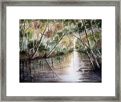 Framed Print featuring the painting Morning Reflections by Mary McCullah