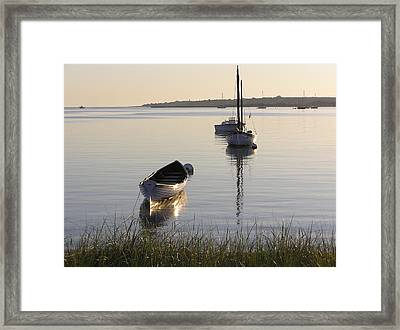 Morning Reflections Framed Print by Richard Mansfield