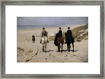 Morning Ride Along The Beach Framed Print