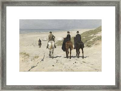 Morning Ride Along The Beach Framed Print