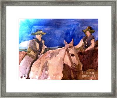 Morning Ride Framed Print by Sandra Stone
