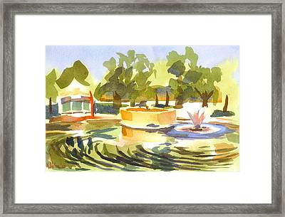 Morning Ripples At Ste. Marie Du Lac Pond Framed Print by Kip DeVore