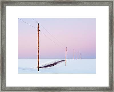 Morning Road Framed Print by Todd Klassy