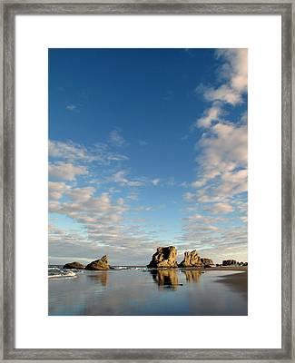 Morning Rocks Framed Print by Suzy Piatt