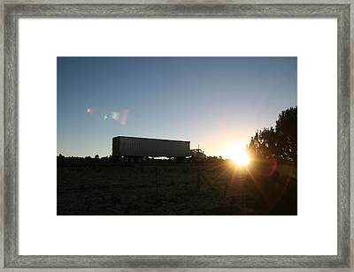 Framed Print featuring the photograph Morning Run by David S Reynolds