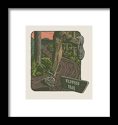 Jog Framed Prints
