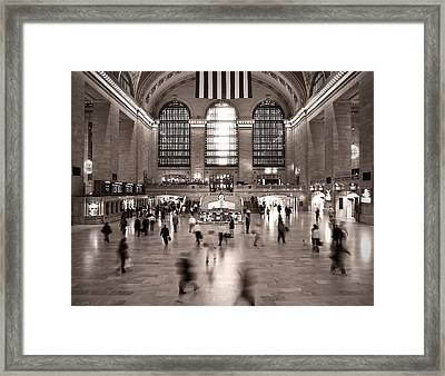 Framed Print featuring the photograph Morning Rush - Grand Central Terminal by James Howe