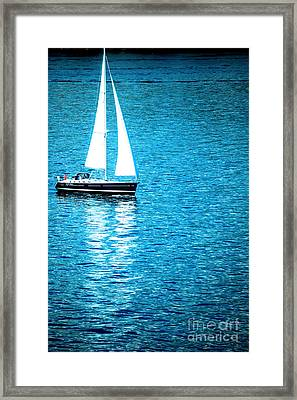 Morning Sail Framed Print by Flamingo Graphix John Ellis