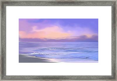 Morning Sea Breeze Framed Print by Anthony Fishburne