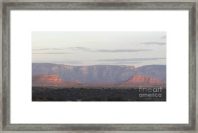 Framed Print featuring the photograph Morning Sedona.... by George Mount