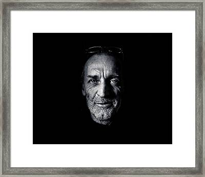Morning Self Portrait In Black And White Framed Print by Brian Carson