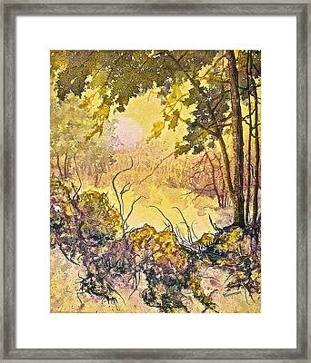 Framed Print featuring the painting Morning Serenity by Carolyn Rosenberger
