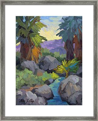 Morning Shade Andreas Canyon Framed Print by Diane McClary