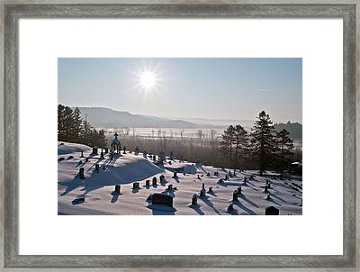 Morning Shadows In The Graveyard Framed Print