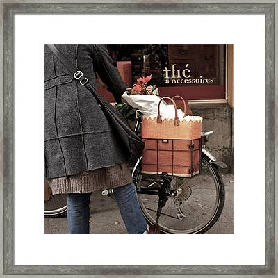 Morning Shopping Framed Print