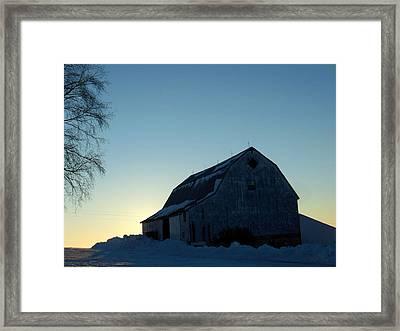 Morning Silhouette Framed Print