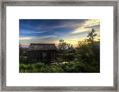 Morning Sky Over Mt. Leconte Framed Print by Debra and Dave Vanderlaan