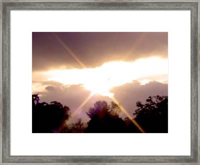 Morning Sky Framed Print by Robert J Andler