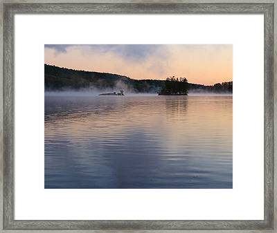 Framed Print featuring the photograph Morning Smoke by Paul Noble