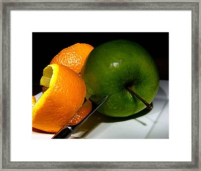 Morning Snack 2 Framed Print by Cecil Fuselier