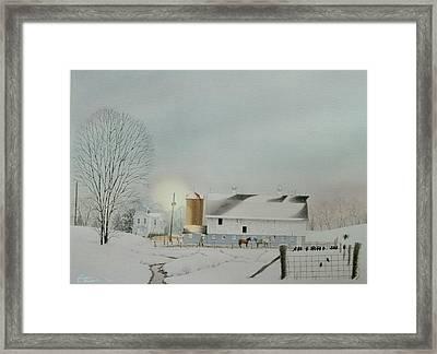 Morning Snow Framed Print