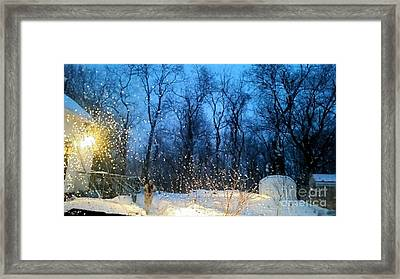 Snowy Morning Framed Print