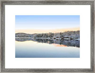 Morning Snowfall Framed Print by Susan Leggett