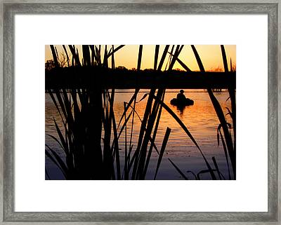 Morning Solitude - Fisherman - Walnut Creek Lake Framed Print by Nikolyn McDonald