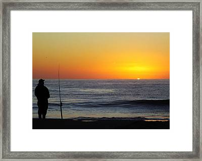 Morning Solitude Framed Print by Karen Wiles