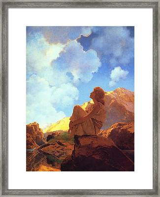 Morning Spring Framed Print by Maxfield Parrish