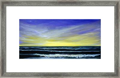 Morning Star And The Sea Oceanscape Framed Print