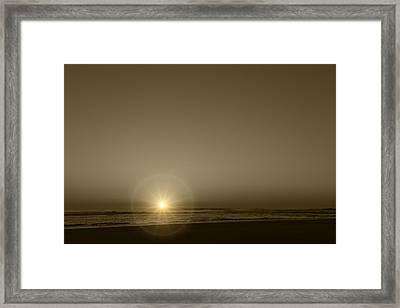 Morning Starburst Framed Print by Kathleen Scanlan