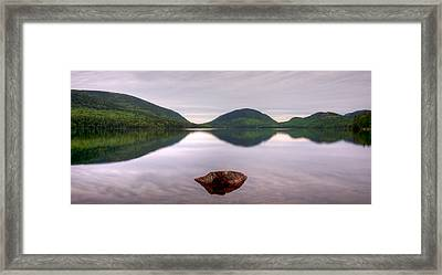 Morning Stillness On Eagle Lake, Acadia Framed Print by Panoramic Images