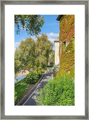 Morning Stroll In Beziers Framed Print by W Chris Fooshee