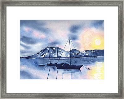 Morning Summer Soltice Framed Print