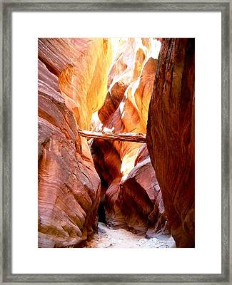 Morning Sun In Buckskin Gulch Framed Print