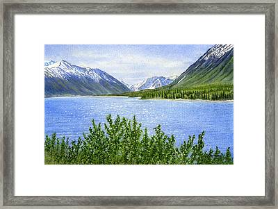 Morning Sun On Kenai Lake Framed Print
