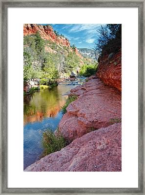 Morning Sun On Oak Creek - Slide Rock State Park Sedona Arizona Framed Print by Silvio Ligutti