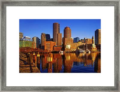 Morning Sun On The Harbor Framed Print