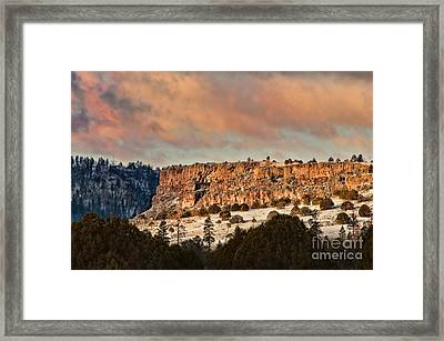 Morning Sun On The Ridge Framed Print