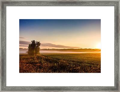 Morning Sun Over Farmland Framed Print